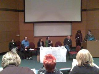 Mobile Media 2007 - left to right: ??; Leslie Haddon; Leopoldini Fortunati; Genevieve Bell; Rich Ling; Judy Wacjman; Gerard Goggin