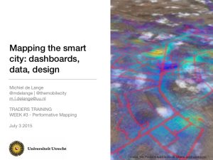 Mapping the smart city dashboards, data, design
